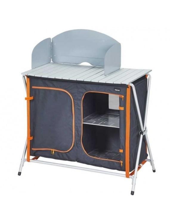 Trigano meuble de cuisine pliant gris tangerine m m047r57 for Articles de cuisine de ricardo