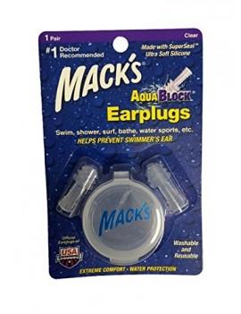 MACKS AV004 AQUA BLOCK BOUCHONS DOREILLES CLEAR