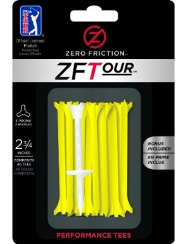 PGA TOUR ZERO FRICTION SYSTEME DE GOLF POUR HOMME LOT DE 40 - JAUNE, 7 CM