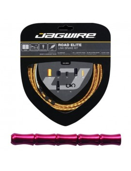 JAGWIRE KIT CABLE FREIN ROAD ELITE LINK BRAKE - CABLES, GAINES, BOITIERS, SEGMENTS - ? EXTERIEUR 5,0 MM - ROUGE