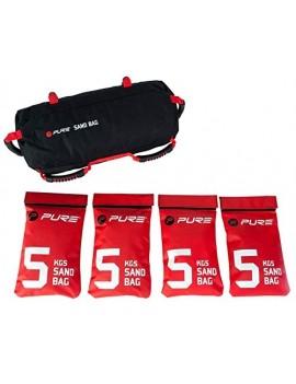 PURE2IMPROVE P2I100160 APPAREIL ABDOMINAUX MIXTE ADULTE, NOIR/ROUGE