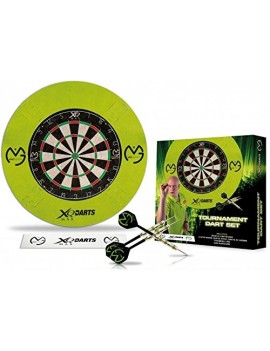 XQ MAX FORET ADULTES MVG BRISTLE DART BOARD SET, GREEN, 1