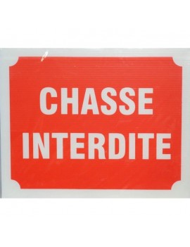 PANNEAU CHASSE INTERDITE X 3 490901