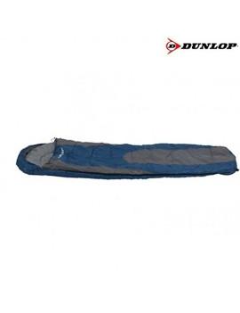 DUNLOP MUMMY SAC DE COUCHAGE BLEU/GRIS 210 X 80 X 50 CM