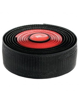 LIZARD SKINS DSP BAR TAPE DUAL GUIDON ROUGE/NOIR 2,5 MM